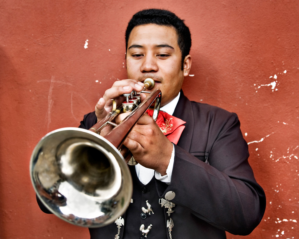 Mexican trumpet player
