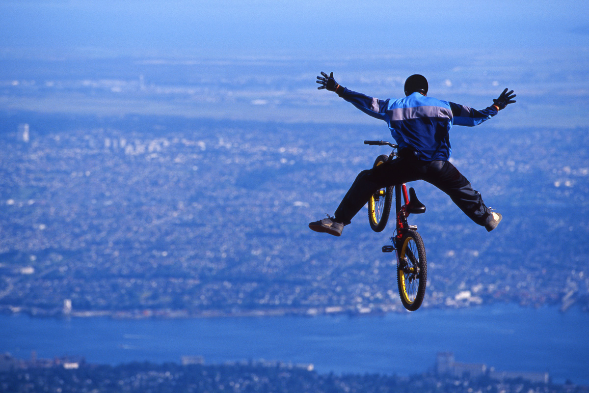 Mountain bike stunt