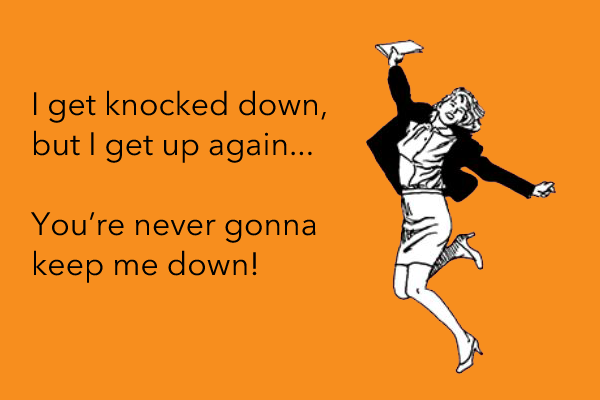 Article image: I get knocked down, I get up again