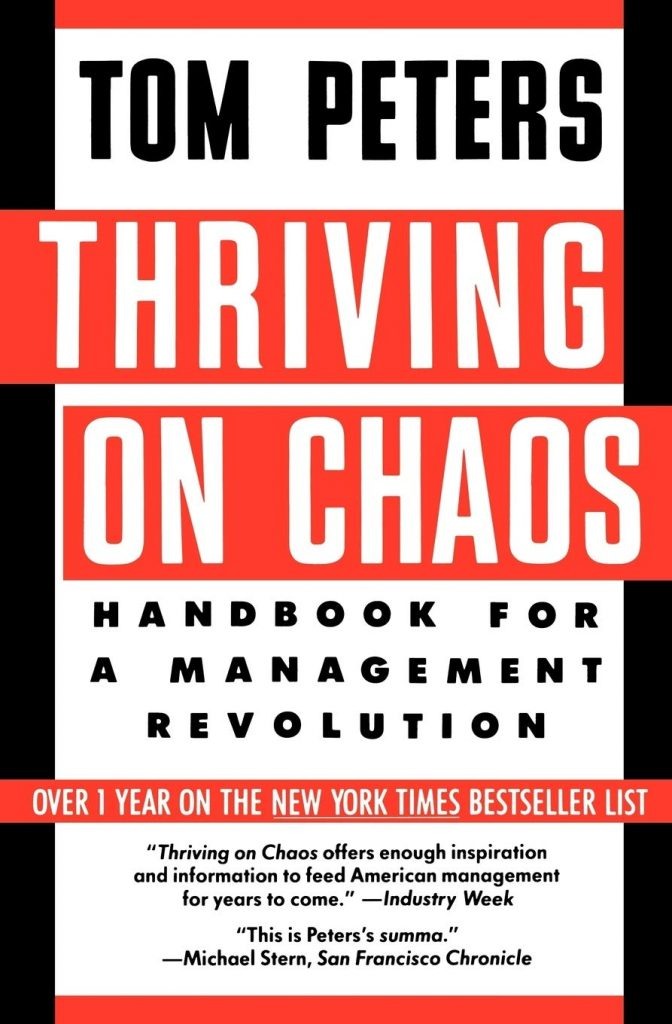 Inset: Thriving on Chaos book by Tom Peters